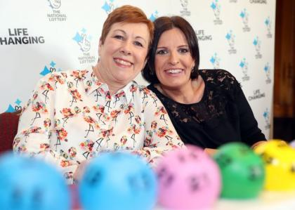 Lotto winners Polly and lolly