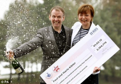 Mr and Mrs Kibler UK Lotto winners